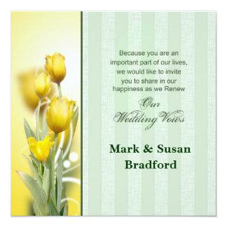 Frühlings-Hochzeits-Erneuerungs-Einladungen Quadratische 13,3 Cm Einladungskarte