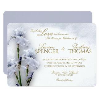Frühlings-Iris-Garten-Hochzeit 12,7 X 17,8 Cm Einladungskarte