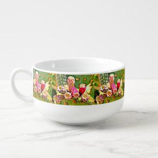 Frühlings-Kaktus-Birnen-Suppen-Tasse Große Suppentasse