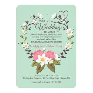 Frühlings-Kranz-Posten-Hochzeits-Brunch-Einladung Karte