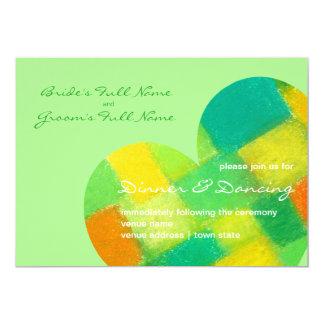 Frühlings-laden der tadellose Hochzeits-Empfang 12,7 X 17,8 Cm Einladungskarte