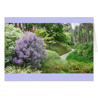 Frühlings-Lavendel-Weg-Gruß-Karte Grußkarte