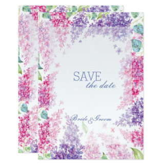 Frühlings-lila Blume Blüte-Mit Blumen Save the Karte
