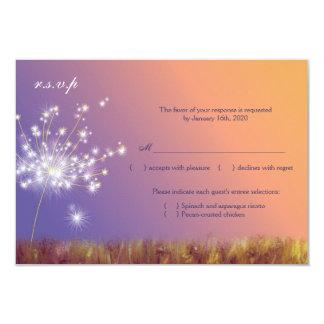 Frühlings-Löwenzahn-Hochzeit UAWG 8,9 X 12,7 Cm Einladungskarte
