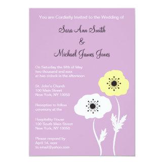 Frühlings-Mohnblumen-Hochzeits-Einladung Karte