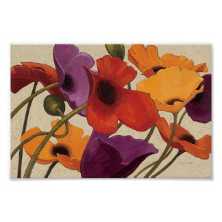 Frühlings-Mohnblumen Poster