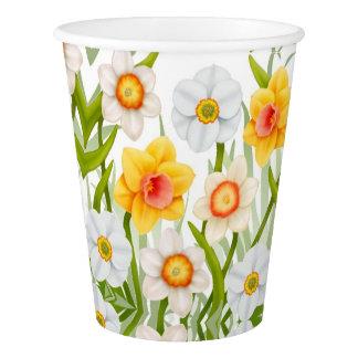Frühlings-Narzissen-Blumen-Papierschalen Pappbecher