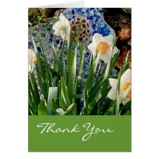 Frühlings-Narzissen-Garten danken Ihnen zu Karte