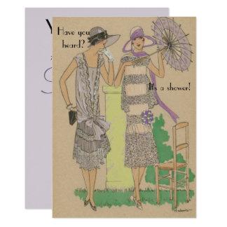 Frühlings-Pariser Prallplatten-Mode-Dusche Karte