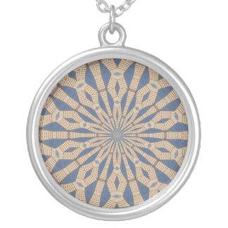 Frühlings-Punkt-Licht-Kaleidoskop Versilberte Kette