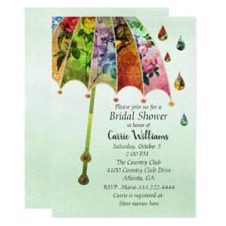 Frühlings-Regen-Brautparty-Einladung Karte