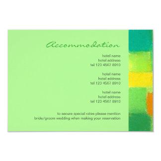 Frühlings-tadellose Hochzeits-Einschließungs-Karte 8,9 X 12,7 Cm Einladungskarte