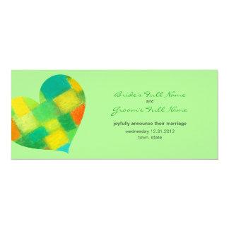 Frühlings-tadellose Hochzeits-Mitteilung 10,2 X 23,5 Cm Einladungskarte