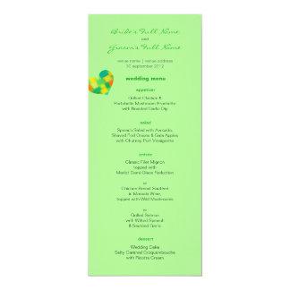 Frühlings-tadelloses Hochzeits-Menü 10,2 X 23,5 Cm Einladungskarte