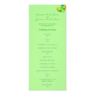 Frühlings-tadelloses Hochzeits-Programm 10,2 X 23,5 Cm Einladungskarte