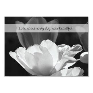 Frühlings-Tulpe-Hochzeits-Einladung 12,7 X 17,8 Cm Einladungskarte