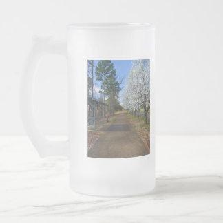 Frühlings-Weg Mattglas Bierglas