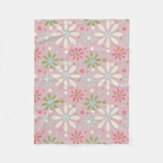 Spring White, Blue and Green Flower Pattern