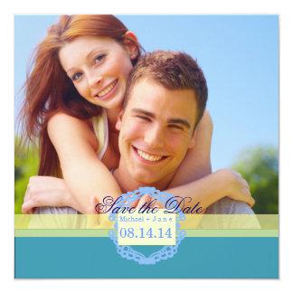 Frühlingsblau Save the Date Quadratische 13,3 Cm Einladungskarte