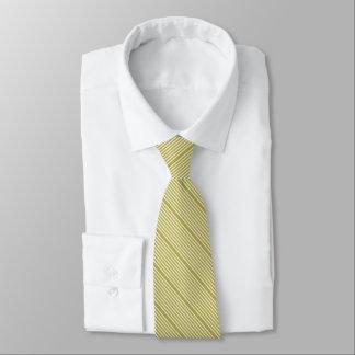 Frühlingsgrün und -creme mit zwei Tonstreifen Personalisierte Krawatte