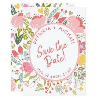 Frühlingshochzeits-Wiesenblüte Save the Date Karte