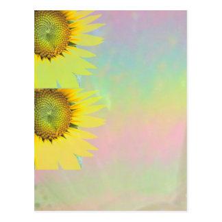 Frühlingssonnenblumen Postkarte