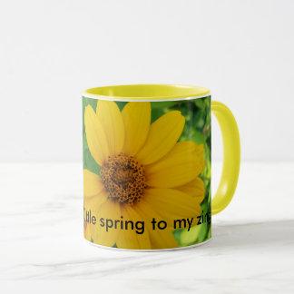 Frühlingszeit-Kaffee-Tasse. Blumen, hübsch. Tasse
