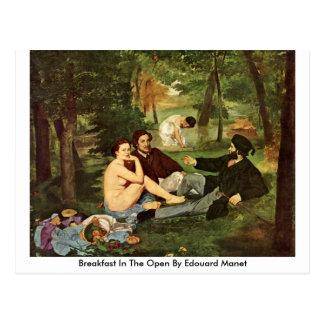 Frühstück im offenen durch Edouard Manet Postkarte