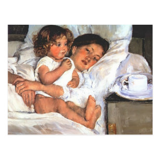 Frühstück Marys Cassatt- im Bett Postkarte