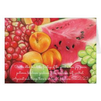 Fruitage der Geist ~ Schrift ~ Frucht-Pastelle Karte