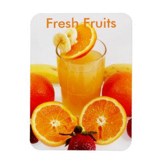 Fruits frais magnet rectangulaire