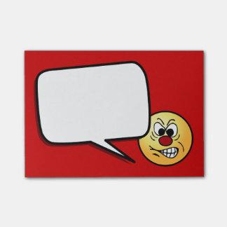 Frustrierter Smiley Grumpey Post-it Klebezettel