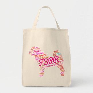 FSPR Lebensmittelgeschäft-Tasche - Wort-Wolke Tragetasche