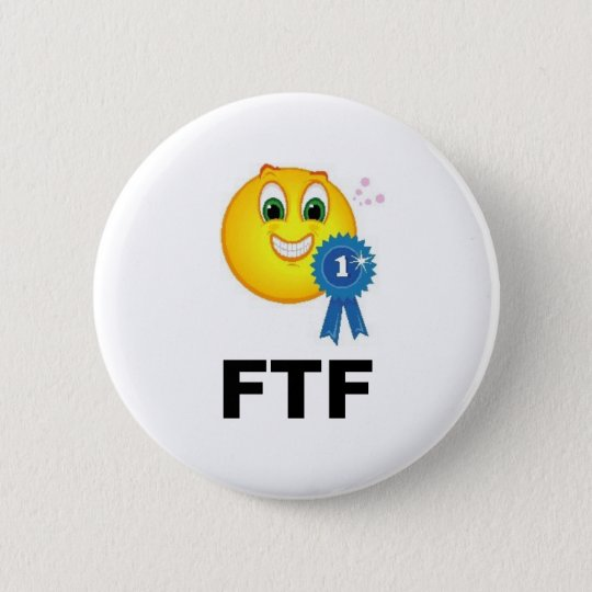 FTF zuerst, zum von Band Geocaching Swag zu finden Runder Button 5,1 Cm