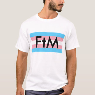 FtM mit Transport-Flagge T-Shirt