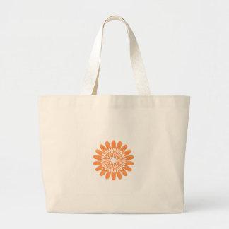Fu Geschenke der SONNE Sonnenblume-Schein-orange Jumbo Stoffbeutel