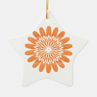 Fu Geschenke der SONNE Sonnenblume-Schein-orange Keramik Ornament