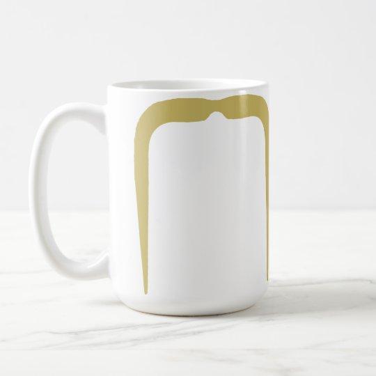 Fu Manchu Schnurrbart in der Blondine Kaffeetasse