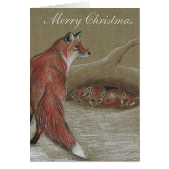 Fuchs-britische Tier-Weihnachtskarten Karte