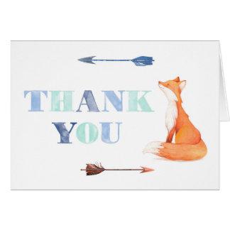 Fuchs danken Ihnen zu kardieren, fox Briefpapier Mitteilungskarte