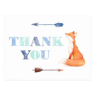 Fuchs danken Ihnen zu kardieren, Wirtschaft danken Postkarte