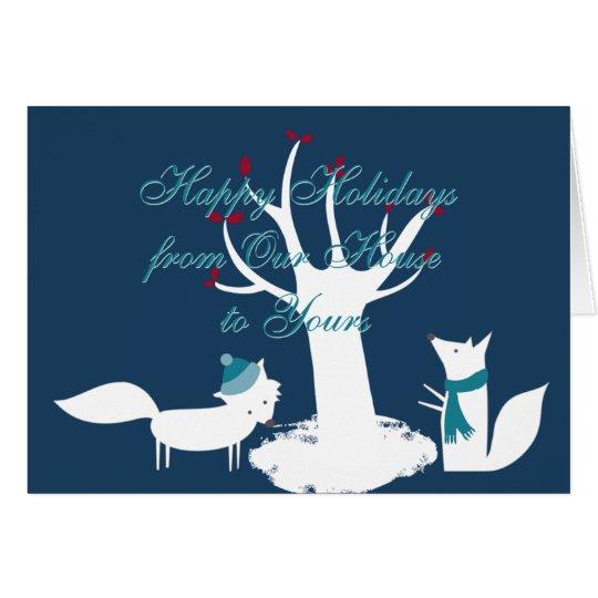 Fuchs-Weihnachtsbaum von unserem Haus zu Ihrem Karte