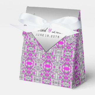 Fuchsien-und Silber-Gastgeschenk Hochzeits-Kasten Geschenkschachtel