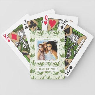 Fügen Sie Ihr Namens  Bananen-Blatt mit Dreiecken Bicycle Spielkarten
