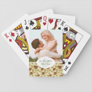 Fügen Sie Ihre Namens| Elefanten und Palmen in der Spielkarten
