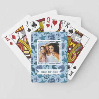 Fügen Sie Ihre Namens| Seeschatten des blauen Spielkarten