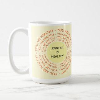 Fügen Sie Namens-RX Tasse für Gesundheit hinzu