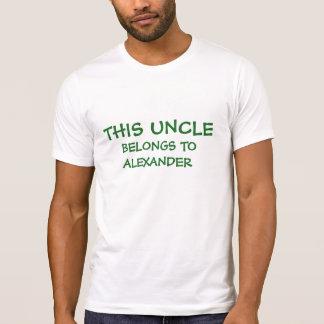 Fügen Sie Neffe- u. Nichtennamen Onkel hinzu T-Shirt
