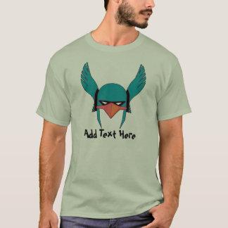 Fügen Sie Text komischem Birdman hinzu T-Shirt