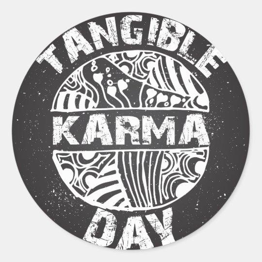 Fühlbarer Karma-Tag 2 Runder Aufkleber